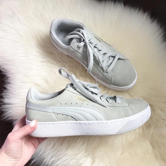 puma vikky platform grey